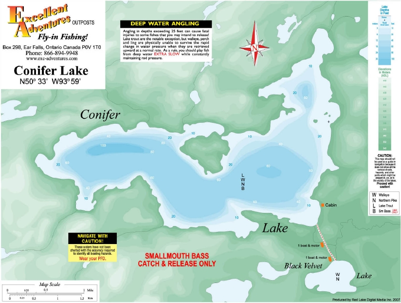 Conifer Lake Outpost Map