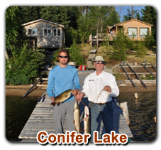 ConiferLake Fly in Outpost   Five Species of Fish!