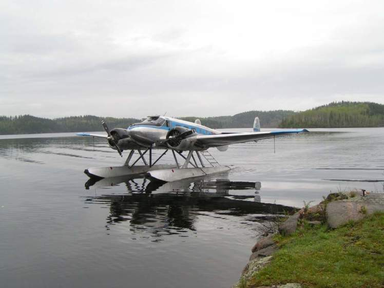 charter float plane red lake ear falls ontario canada