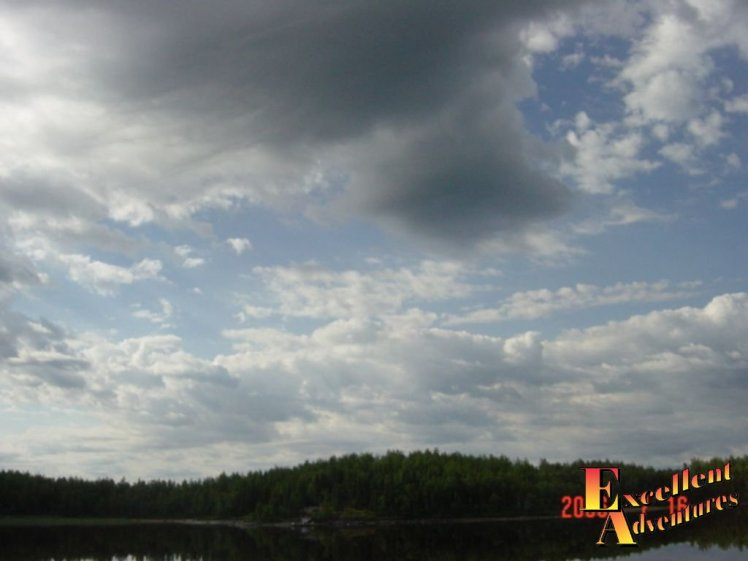 Clouds over the Papaonga Lake Cabin.