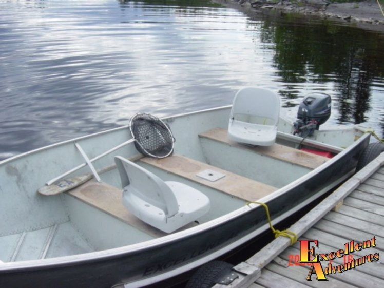 Comfortable fishing boats with seats
