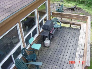 Full sized outdoor deck with BBQ
