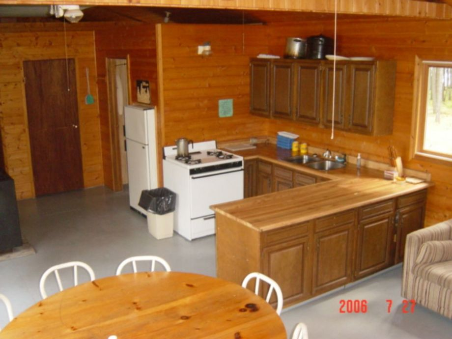 Open concept kitchen fishing cottage