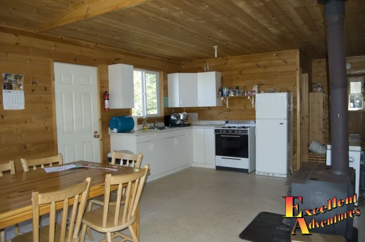 Open Concept Kitchen - Fishing Outpost Cabin