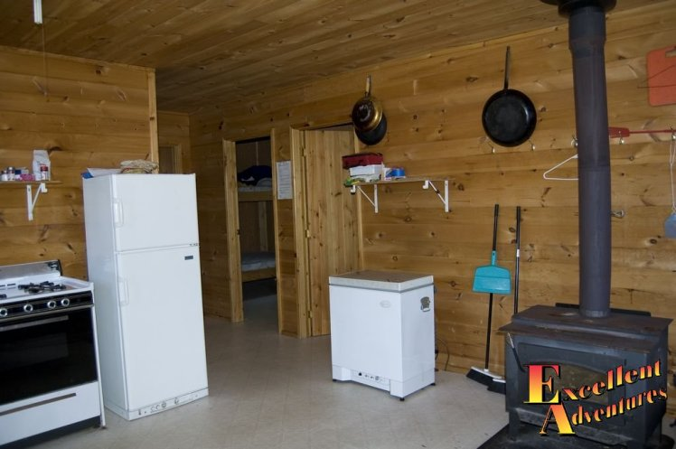 Outpost camp with fridge and freezer.