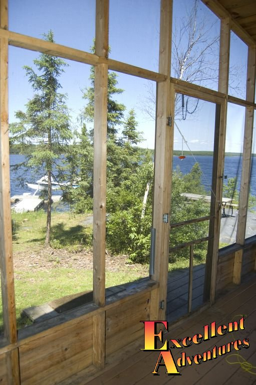 Screen deck on our fishing cabin.