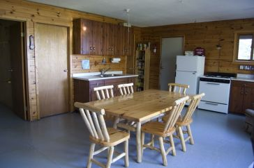 Sumach Lake Outpost Cabin Kitchen