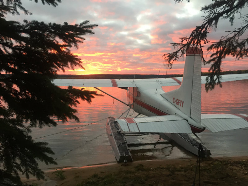 flyin outpost fishing float plane